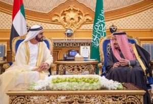 محمد بن راشد والملك سلمان